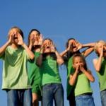 Children against the sky