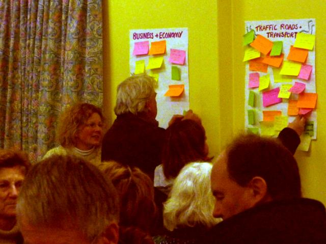 People and post-it notes
