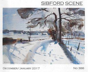 Painting of snow scene