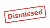 """Dismissed"" rubber stamp"