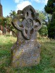 Tombstone in churchyard