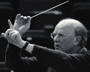 A man conducting
