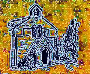 Drawing of church
