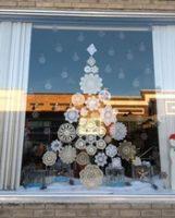 Tree decoration in window